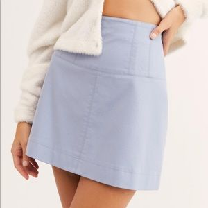 Free People Faux Leather Skirt NWT